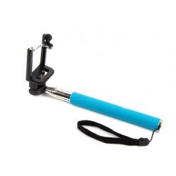Selfie-stick med Bluetooth utlösare (Blå)