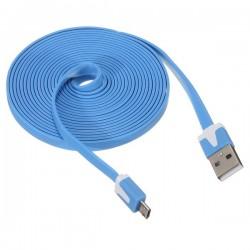 3 meter platt USB-kabel