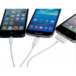 Extrabatteri till iPhone och Android Smartphone Ultraslim 3000 mAh + 4i1 USB-kabel