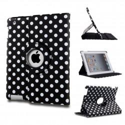 Ställbart iPad fodral 360 grader rotation - (Prickig svart)