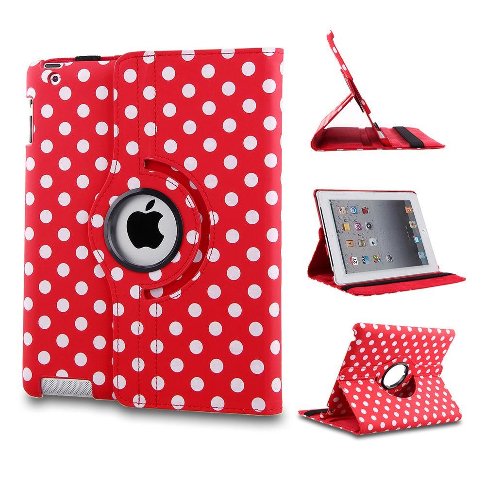 Ställbart iPad fodral 360 grader rotation - (Prickig röd) - AerPad.se 5298a9c9e067c