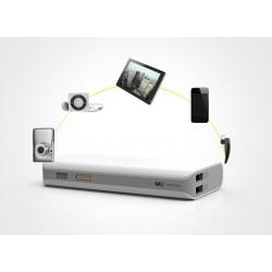 Kraftullt extrabatteri 10400 mAh dubbla USB-portar