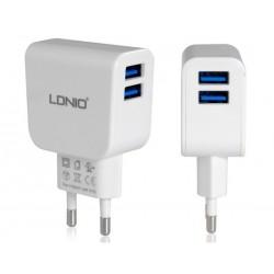 LDNIO USB-laddare 5V-2.1A med dubbla USB-portar