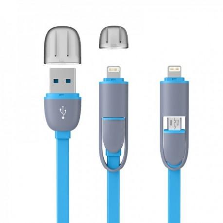2i1 platt trasselfri USB kabel AerPad.se