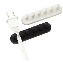 Självhäftande kabelhållare för 5 st kablar i 2-pack