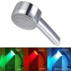 Färgskiftande LEDduschmunstycke