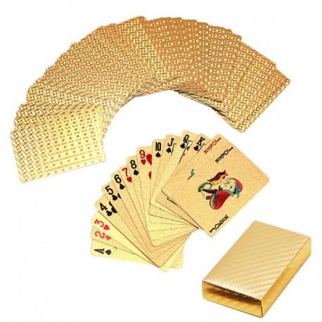 Guldfärgade spelkort för roligare spel