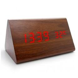 LED Alarm / Väckarklocka i bambuträ