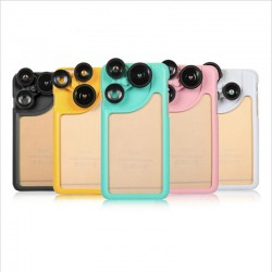 Mobilskydd med 4 i 1 kameralins til iPhone 6/6S