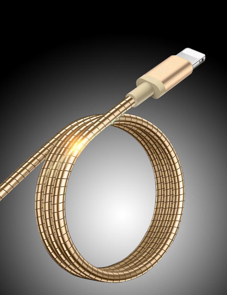 Exklusiv USB kabel med micro kontakt i virad metall AerPad.se