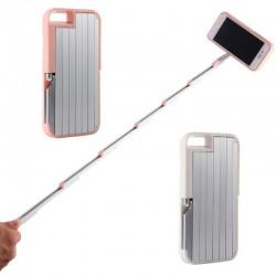 Mobilskal till iPhone 7 med inbyggd selfiepinne & Bluetooth fjärrkontroll