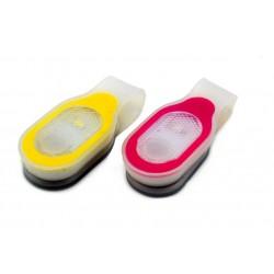 LED-reflex med magnetisk clips  & vitt/rött sken