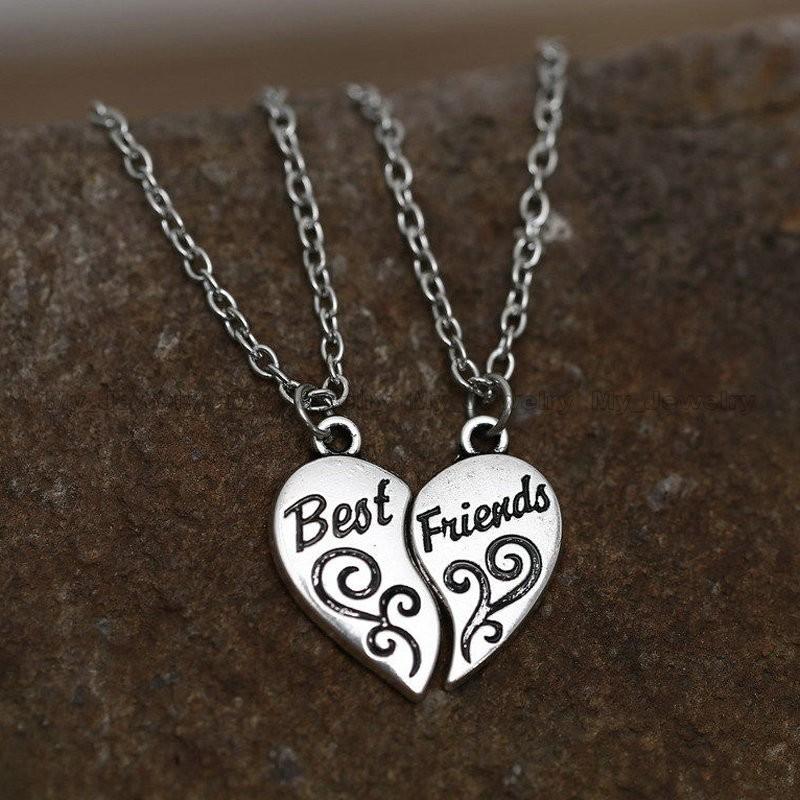 vänskap halsband i silver