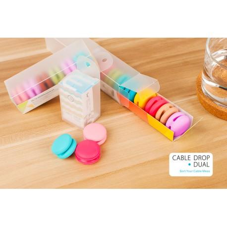 Smarta kabelhållare i snygga färger - 10 pack