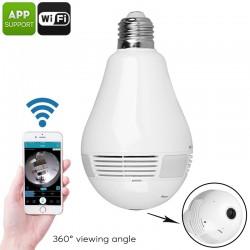 LED WI-FI lampa 360° vidvinkel - diskret lampa med övervakning