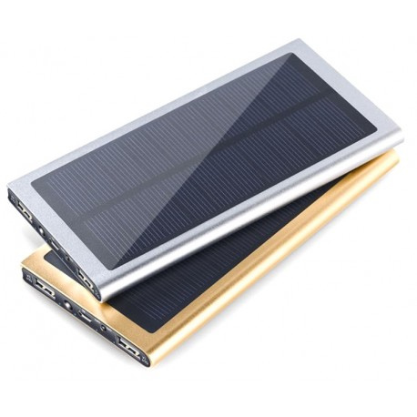 Solar charger / Powerbank I slimmad design 8000 mAh