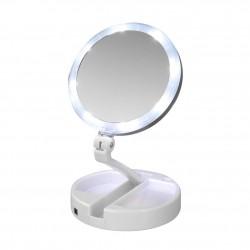 Sminkspegel med LED-belysning och förstoring