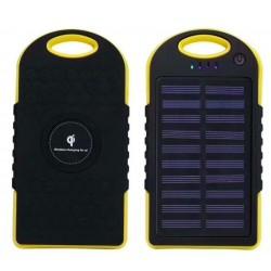 Qi Solcellsladdare 8000 mAh med dubbla USB-portar