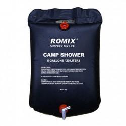Campingdusch med temperaturindikator och dushchandtag