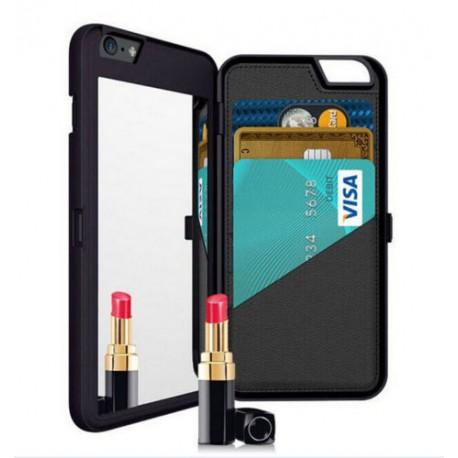 Mobilfodral med spegel och kortfack till iPhone 6/6S