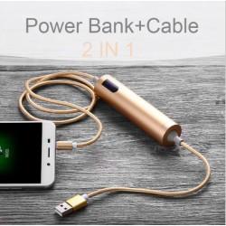 2i1 powerbank 2600 mAh + USB-kabel