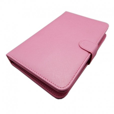 Rosa väska till Surfplatta 7 tum med tangentbord