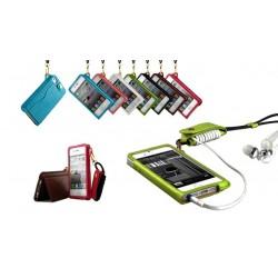 Mobil halsband med korthållare till iPhone 5/5S/5C - 7 färger